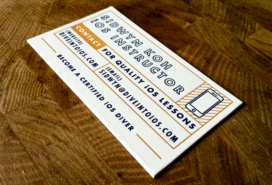 Dive into iOS business card