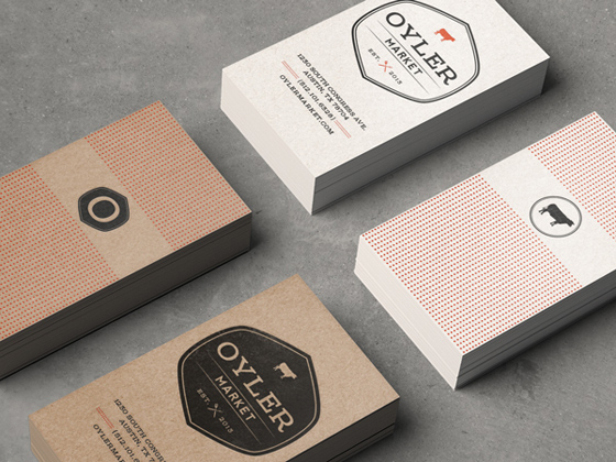Oyler Market business card