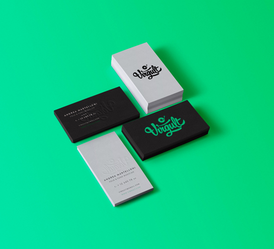 Green business cards inspiration cardfaves virgult business cards colourmoves