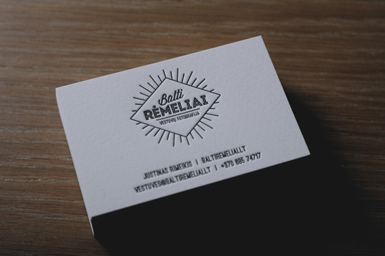 Wedding photographer business cards