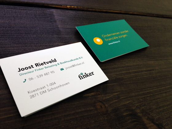 Financial business cards
