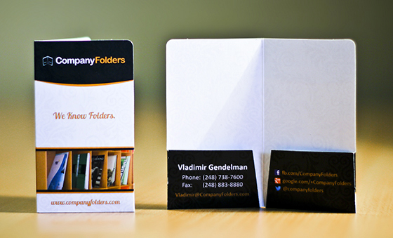 Mini Pocket Folder business card