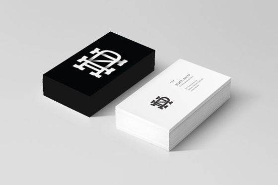 Black and white business cards inspiration cardfaves nick mcd business card colourmoves