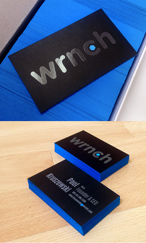 Edgy WRNCH business card