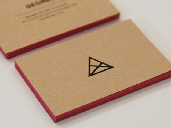 Geome3 business card inspiration cardfaves colored edge business card reheart