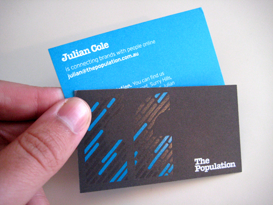 The population business card inspiration cardfaves spot uv business card reheart Images