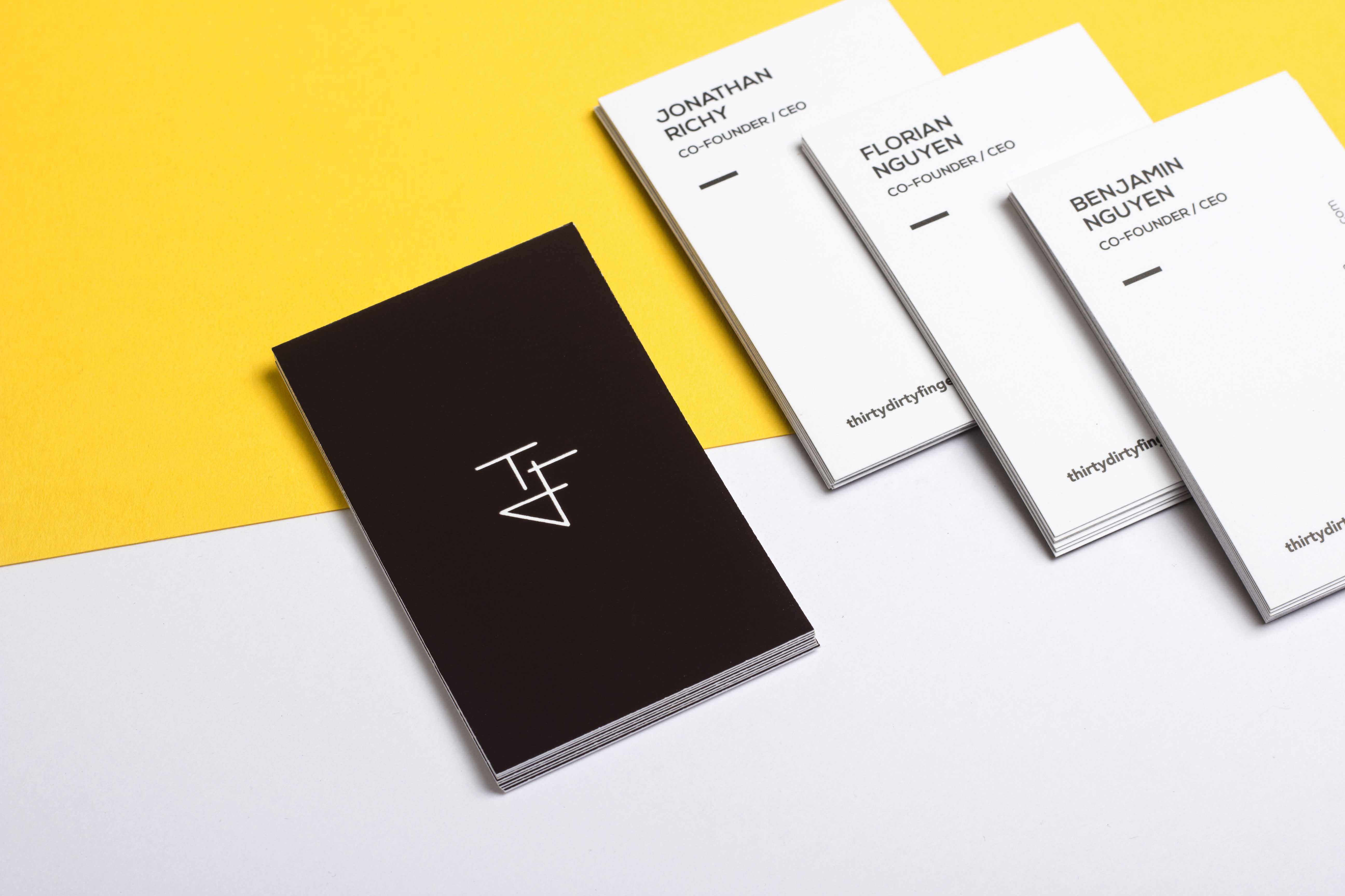 thermo sensitive business card