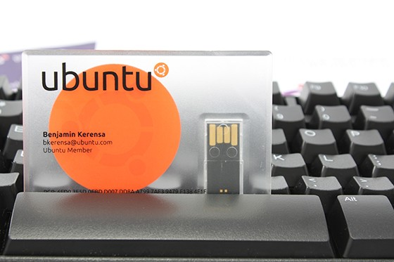 Ubuntu USB business cards