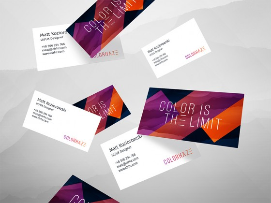 Colorhaze business cards
