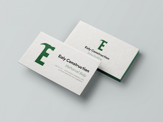 Ealy Construction Business Cards