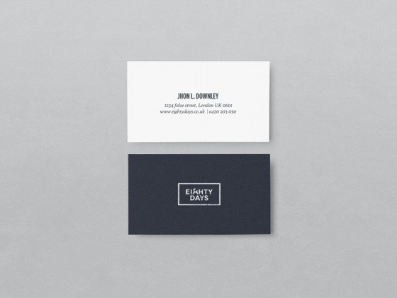 Eighty Days business card
