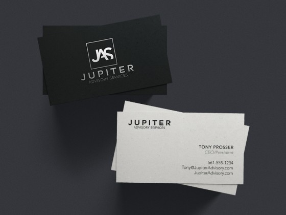Jupiter Advisory Services business card