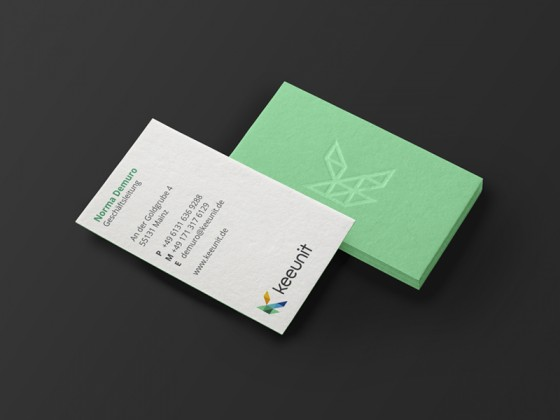 Keeunit business card