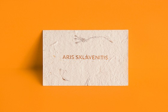 Aris Sklavenitis Handmade business cards