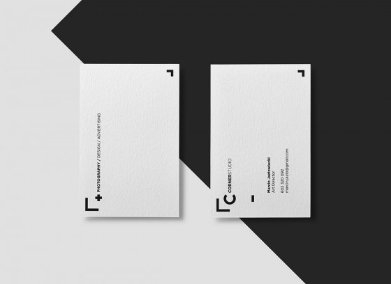 Business cards of CornerStudio