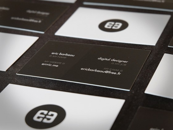 Business cards for Eric Barbeau