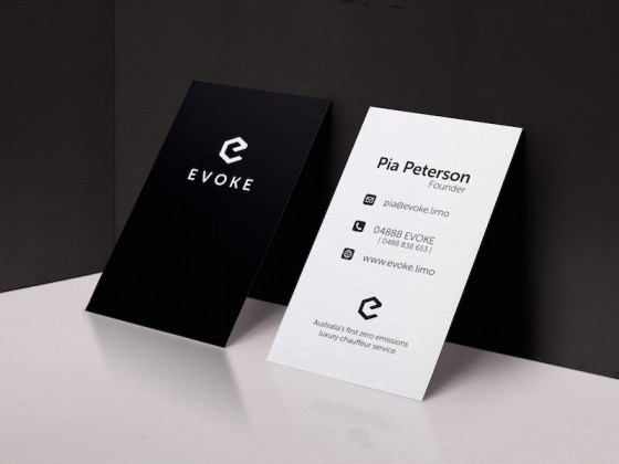 Evoke business cards