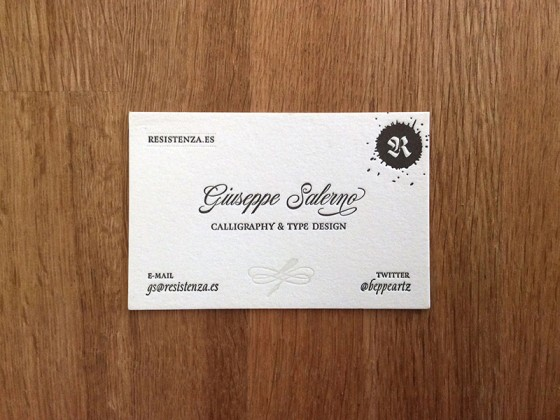 Giuseppe Salerno business card