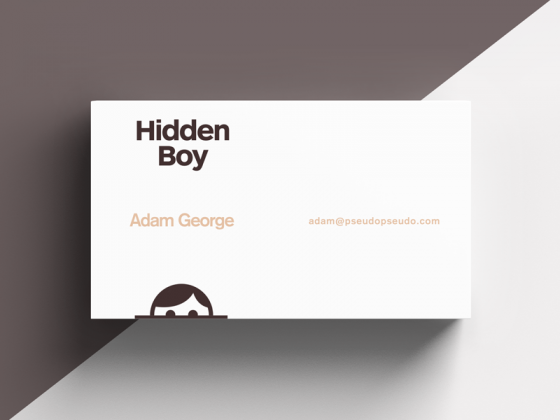 Hidden Boy business card