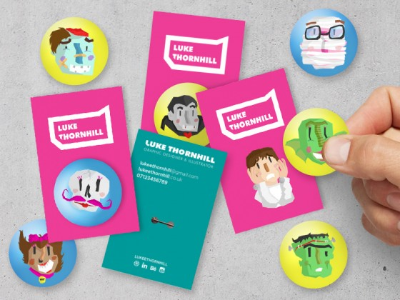 Business cards of Luke Thornhill