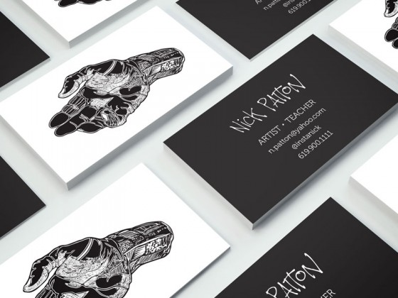 Business cards of Nick Patton