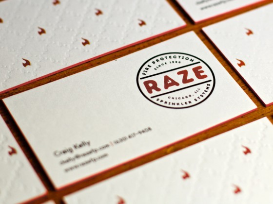 Raze business cards