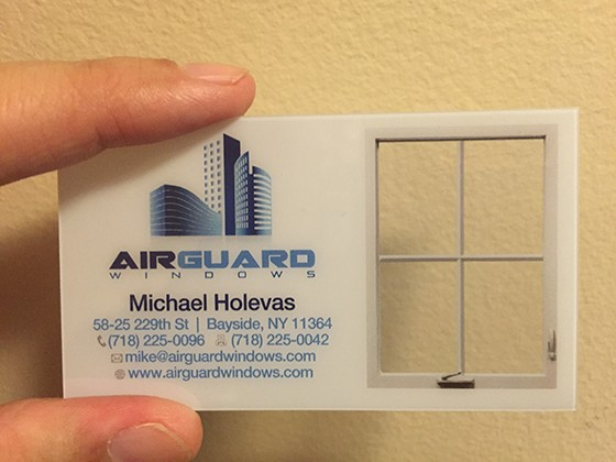 Airguard Windows business card