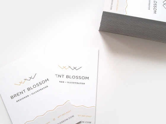 Brent Blossom business card