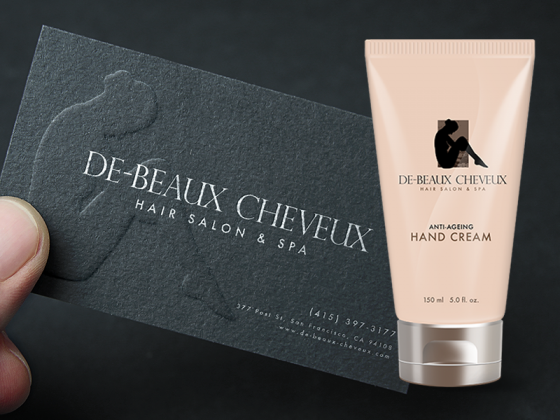 De-Beaux Cheveux business card