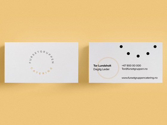 Furset Gruppen Catering business card