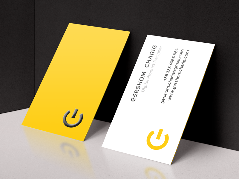 Yellow business cards inspiration cardfaves gershom charig business card colourmoves