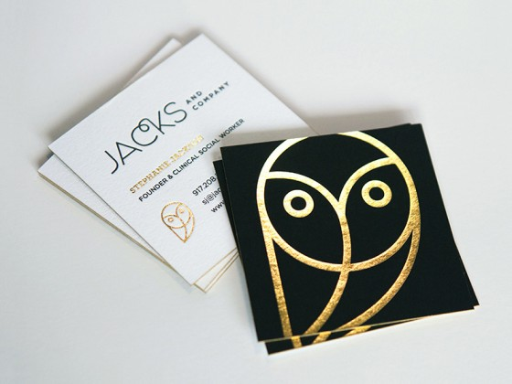 Jacks & Company business card