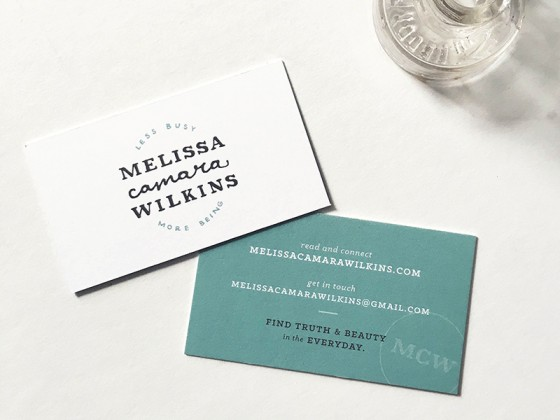 Melissa Camara Wilkins business card
