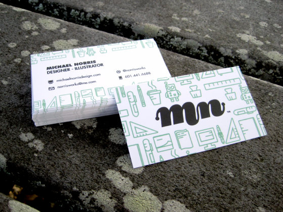 Michael Norris business card