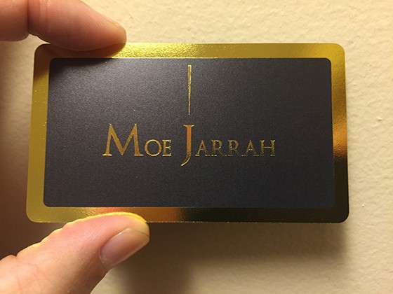 Moe Jarrah business card