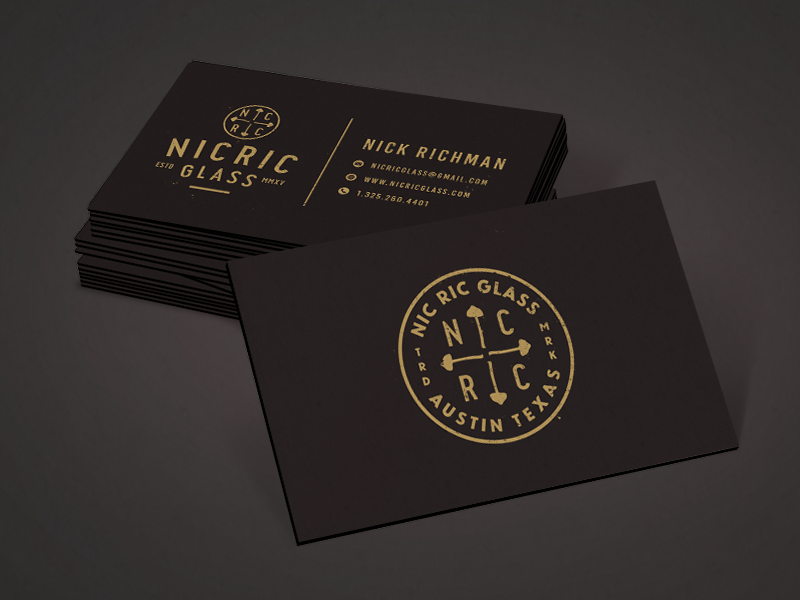 Gold business cards inspiration cardfaves nick richman business card colourmoves