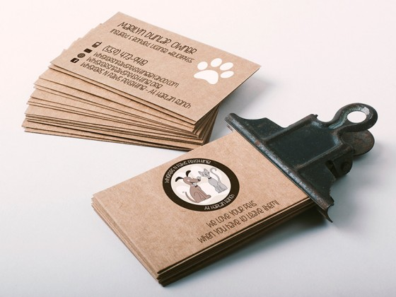 Whiskers N Paws Petsitting Business Card