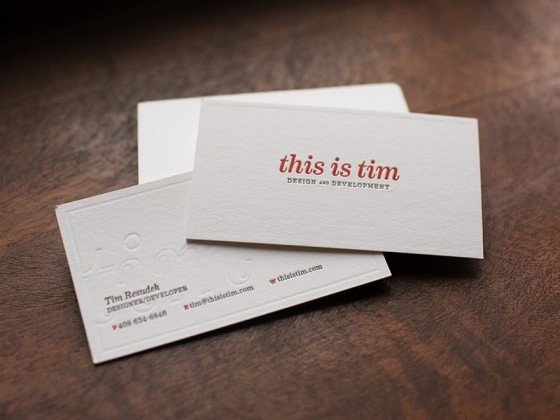 This is Tim business card