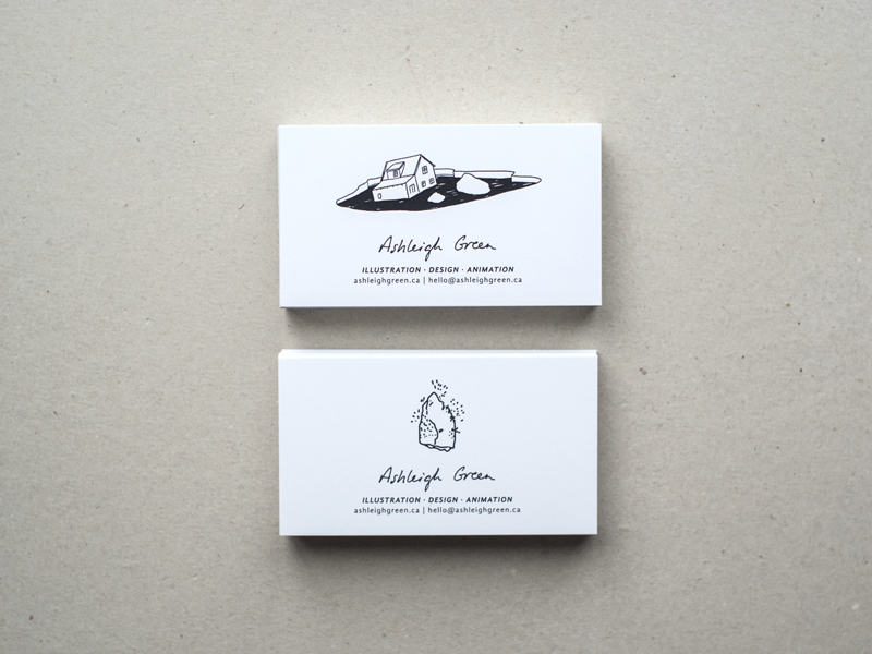 Canada business cards inspiration cardfaves ashleigh green business card reheart Images