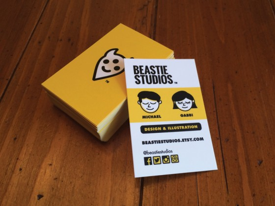 Beastie business cards