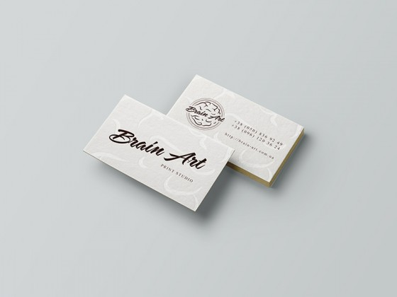 Brain art business card