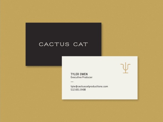 Cactus Cat business cards