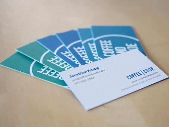 Coffee & Code business cards