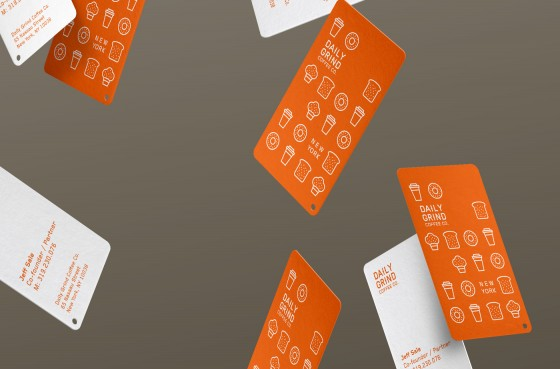 Daily Grind Coffee business cards
