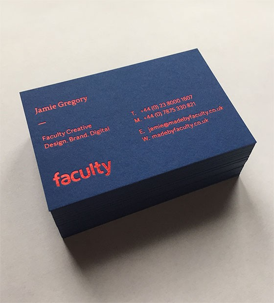 Faculty business card
