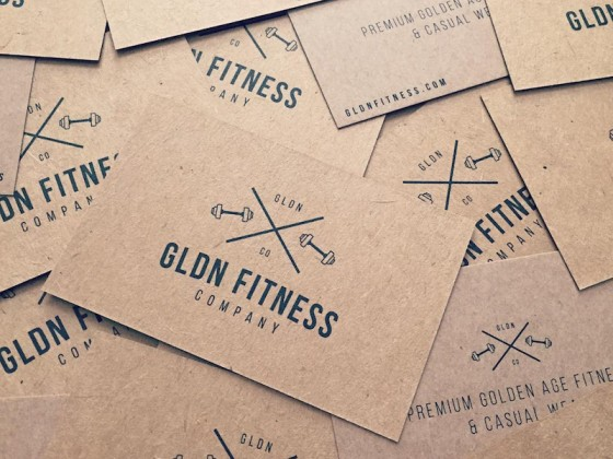 GLDN Fitness business cards