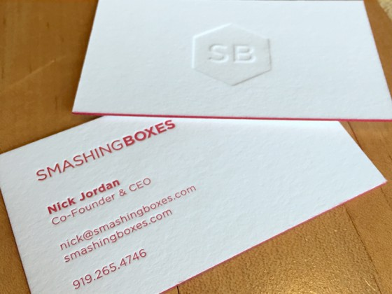 Smashing Boxes business card