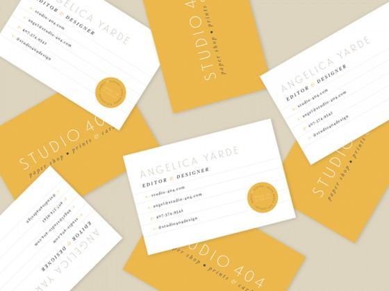 Studio 404 business cards