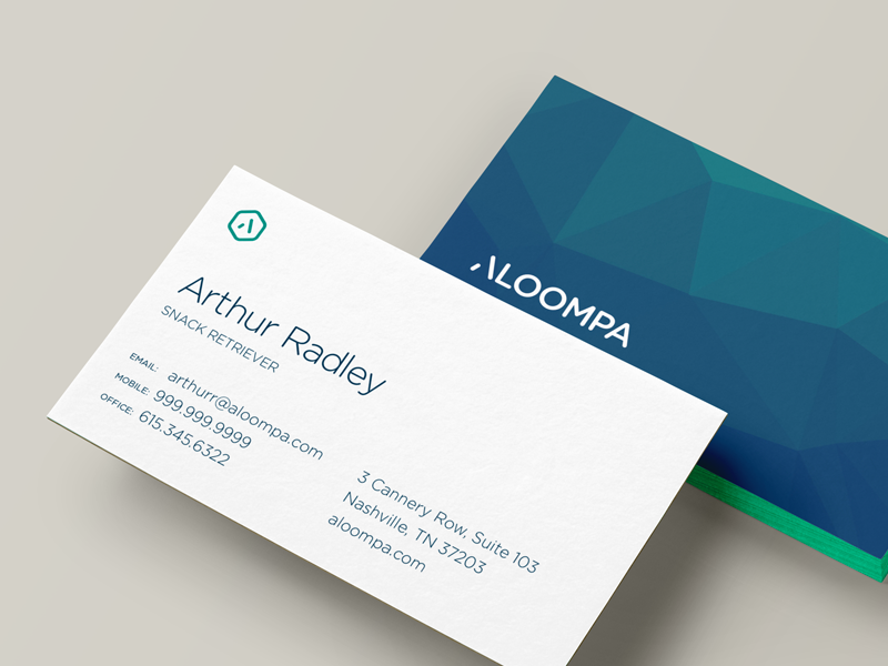 Aloompa business cards inspiration - CardFaves