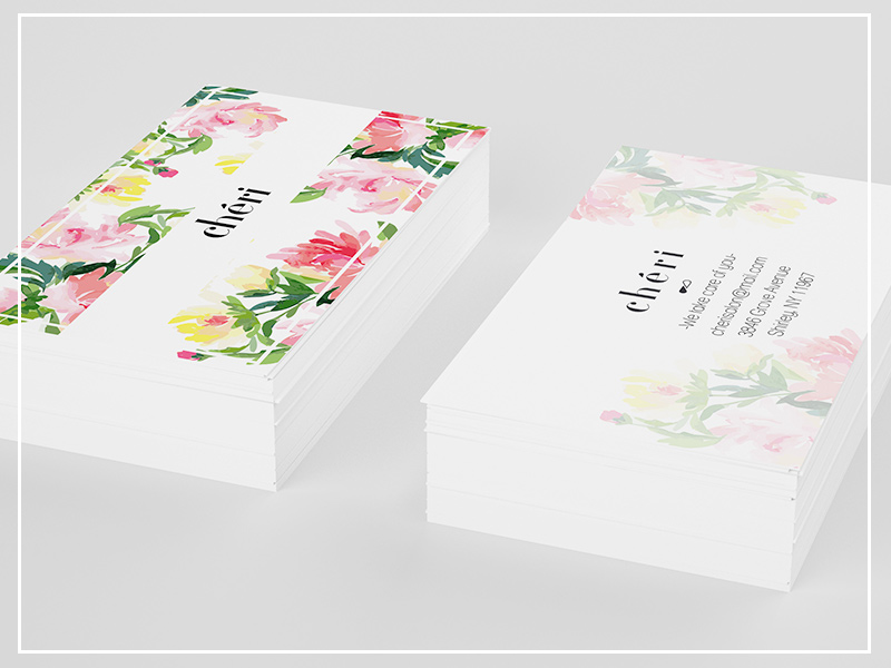 flower business card